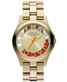 Marc by Marc Jacobs Watch, Women's Automatic Gold Ion-Plated Stainless Steel Bracelet 40mm MBM9701 - Limited Edition