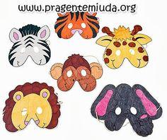 máscaras de animais para colorir - Pesquisa Google