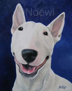 Unconditional Original Oil Painting Noewi Dog Puppy English Bull Terrier | eBay
