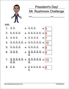 math worksheet : presidents day math worksheets and activities inspire your kids  : Math Worksheets For Teachers