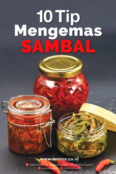 Inspirasi Usaha: 10 Tip Mengemas Sambal Sambal Sauce, Sambal Recipe, Chilli Recipes, Asian Recipes, Mexican Food Recipes, Indian Pickle Recipe, Nasi Bakar, Indonesian Cuisine, Malaysian Food