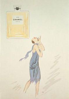 Vintage Chanel perfume ad