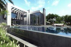 Stunning villa with a private pool in Benalmadena, Costa del Sol, South of Spain #villa #luxury #sale #marbella #homes #pool #contemporary #design #dream #lifestyle