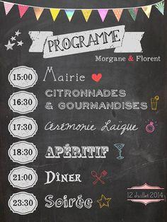Programme de Mariage - Chalkboard wedding program sur Etsy, 15,00€
