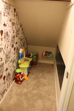 Blush Paperie: Playroom under the stairs