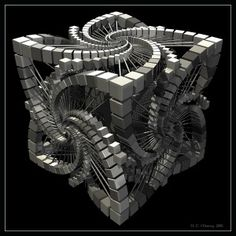 43 Spectacular Examples of Fractal Art | Presidia Creative  Escher inspired
