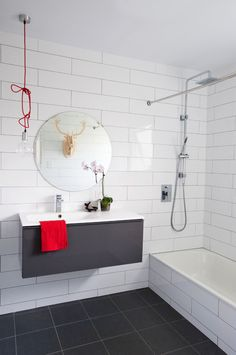 Bathroom Tiles Grey And White the architect is in: a home in the hamptons, designed to endure