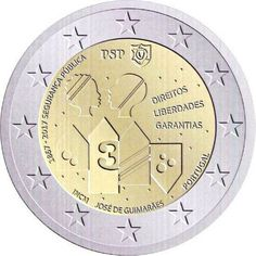 2017 Portugal Portugal Euro, Numismatic Coins, Rock Lee, Commemorative Coins, Clock, Island, Retro, Collection, Coins