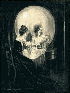 I always enjoy these skull like images of vanity. B)