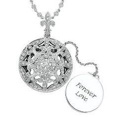 Diamond locket by Chad Allison.  Engrave your personalized message for her to enjoy and to treasure.  Style PD822