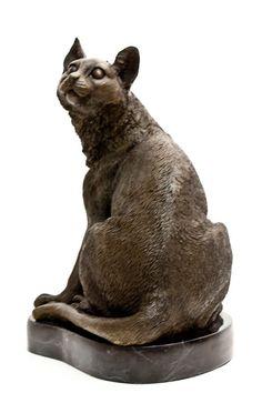 Feline Cat Bronze Sculpture