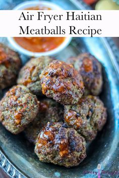 Learn to make the best Air Fryer Haitian Meatballs Recipe. Paired with a homemade Haitian tomato sauce, these meatballs are ready to be served in minutes. Low Carb Appetizers, Appetizer Recipes, Dinner Recipes, Appetizer Ideas, Dinner Ideas, Snack Recipes, Healthy Recipes, Meatball Recipes, Meat Recipes
