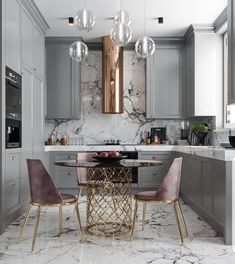 A great look for a small kitchen. Soft a dusty colors. By Nama interior design … A great look for a small kitchen. Soft a dusty colors. By Nama interior design. Kitchen Decor, Kitchen Inspirations, Interior Design Kitchen, Home Decor Kitchen, House Interior, Kitchen Interior, Home Kitchens, Kitchen Remodel, Trendy Kitchen