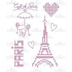 Feuille magique city Paris 1 FC4001 - Feuilles magiques City - DMC