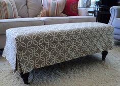 Items similar to Made to order ottoman slipcovers made from your fabric. on Etsy Burlap Ottoman, Leather Ottoman Coffee Table, Ottoman Decor, Diy Ottoman, Ottoman Slipcover, Ottoman Cover, Fabric Ottoman, Round Ottoman, Ottoman Bench