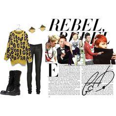 """G-Dragon Rebel"" by dehhiddenangel on Polyvore"