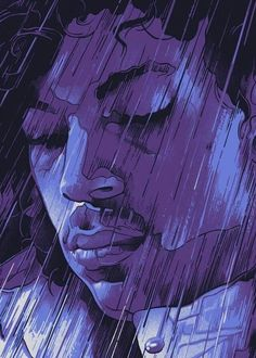 Purple Rain Prince Wish I could get this as a tattoo. Rain Pictures, Black Art Pictures, Prince Purple Rain, Purple Love, All Things Purple, The Artist Prince, Pictures Of Prince, Rain Art, Roger Nelson