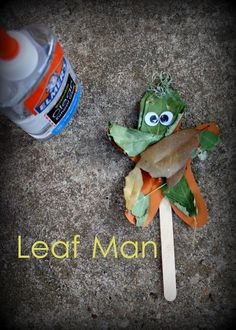 Craft based on Lois Ehlert's Leaf Man.  Via Having Fun at Home.