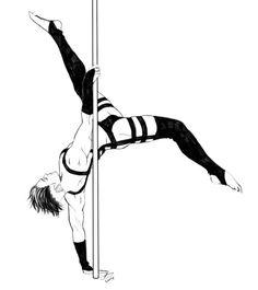 Stripper - Pole Dancer - Levi Ackerman - Attack on Titan - Shingeki no Kyojin… Levi Ackerman, Eren E Levi, Attack On Titan Levi, Bakugou Manga, Manga Boy, Hot Anime Boy, Anime Guys, Stripper Pole, Poses Manga
