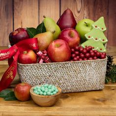 Our 2017 Joyful Jubilee Fruit Basket was named in honor of the joy it will bring to it's lucky receiver. This gift is a beautiful masterpiece of chocolates, cookie, and fruits. Delicious!