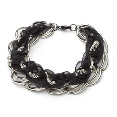 Braided Ribbon and Chain Bracelet! Another gorgeous obsession of mine