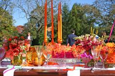 colourful catering ideas