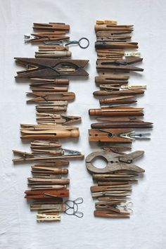 Clothespins collected by Fritz Karch & Rebecca Robertson. Photograph by Dana Gallagher. Living with the Things you Love.