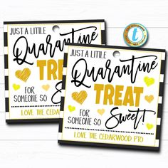Quarantine Treat Tag, So Sweet Candy Cookie, Neighbor Friend Coworker Staff Well Wishes Gift Thinking of You Gift Tag DIY Editable Template Employee Appreciation Gifts, Teacher Appreciation Week, Teacher Gifts, Volunteer Appreciation, Teacher Stuff, Wish Gifts, Thank You Gifts, Little Presents, Neighbor Gifts