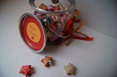 jar of motivational paper stars--Moti stars. $16.50, via Etsy.