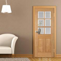 Iseo oak 4 light flush veneer door with bevelled clear safety perth 6 light white oak door is 35mm thick with raised panels and bevelled clear safety glass planetlyrics Gallery