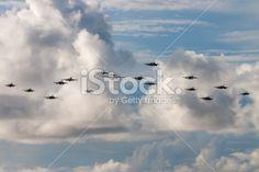 Air Wing Flyover Royalty Free Stock Photo