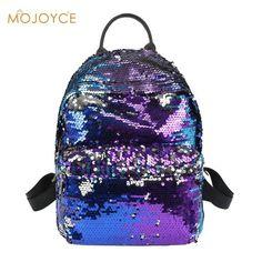 26066987d9f2 Sequins Backpacks Women PU mochila Shine Backpack Glitter Large Girls Travel  Shoulder Bags Fashion Brand Black