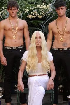 Leave it to Donatella Versace to class up the ALS Ice Bucket Challenge with shirtless male models sporting Versace chains AND Versace buckets.