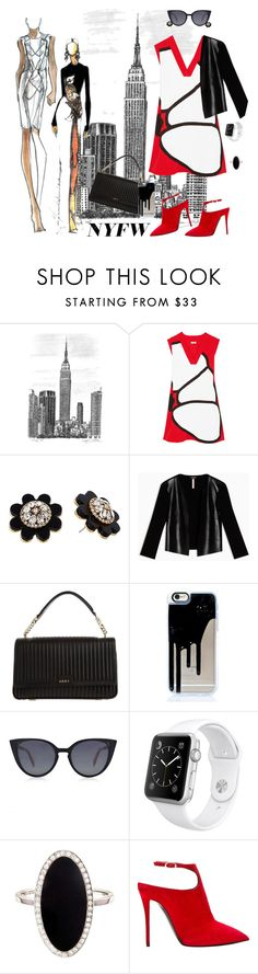 """Cali just Rolled into Town"" by krusie ❤ liked on Polyvore featuring Kenzo, Kate Spade, Max&Co., DKNY, Fendi, Apple, Jennifer Meyer Jewelry and Giuseppe Zanotti"