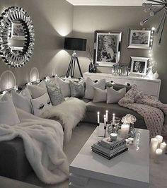 Elegant Living Room Colour Schemes #livingroomdecor #elegantlivingroom » aesthetecurator.com