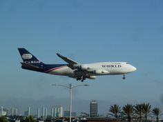 World Airways N740WA Boeing 747-4H6/F Cargo jet on final approach to LAX | Flickr - Photo Sharing!