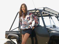 LOOK BOOK: PISMO BEACH Josephine Skriver in CLOVER CANYON Royal Horses Sweatshirt