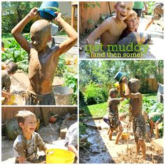 a mud party for a 7 yr old. too cool.