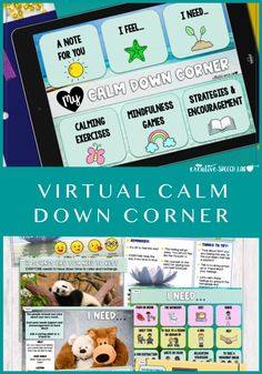 Distance Learning - Virtual Calm Down Corner Social Skills Activities, Speech Therapy Activities, Learning Activities, Problem Solving Exercises, Calm Down Corner, Social Emotional Learning, Social Thinking, Sensory Processing, Google Classroom