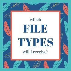 Find out all you need to know about file types! Need To Know, Graphic Design, Type, Artwork, Books, Work Of Art, Libros, Auguste Rodin Artwork, Book