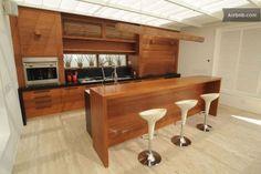 Casa de #Ronaldinho #Lounge bar Home Kitchens, Kitchen Island, Architecture, Interior, Table, Room, Lounge Bar, Furniture, Design