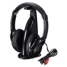 5in1 Wireless Headphone HiFi Monitor FM MIC for PC TV DVD Audio Mobile