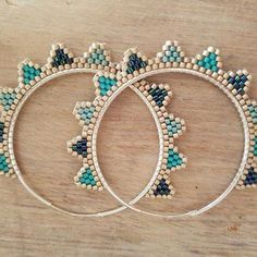61 Ideas Diy Jewelry Earrings Hoops For 2019 Seed Bead Jewelry, Bead Jewellery, Seed Bead Earrings, Diy Earrings, Diy Jewelry, Beaded Jewelry, Handmade Jewelry, Jewelry Design, Jewelry Making