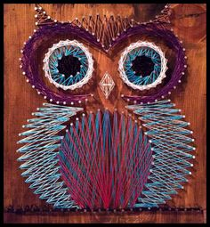 MADE TO ORDER Custom Owl String Art by NataliesRusticJunk on Etsy