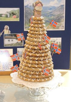 Norwegian Kransekake.  I have made this many times.  Beautiful to look at.