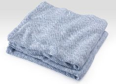 Parlin Herringbone Twist Cotton Blanket by Brahms Mount is soft, stylish, crisp and cool. Features classic herringbone with a fresh spin in the twisted yarns. Cotton Baby Blankets, Unique Baby Shower Gifts, Holiday Gift Guide, Wool Blanket, Herringbone, Indigo, Pure Products, Pattern, Usa