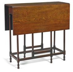 A George III mahogany spider gate-leg table third quarter 18th century with a frieze drawer, underside with a paper label inscribed 1844 Maria Williams's Property height 27 1/2 in.; width closed 10 3/4 in.; depth 28 in. 70 cm; 27.5 cm; 71 cm
