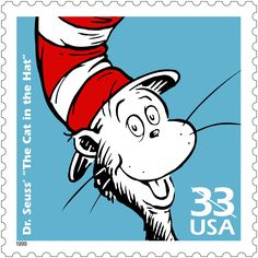 US stamp - The Cat in the Hat (1957) was illustrated and written by Dr. Seuss…