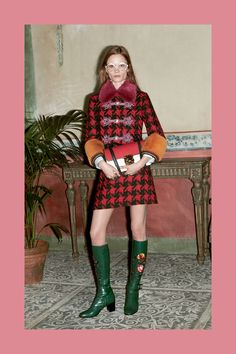 Plaid Coat Gucci Prefall 2016