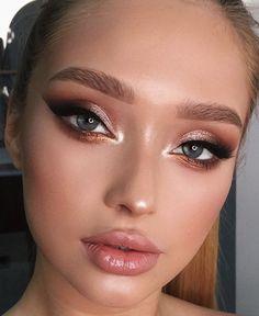 Eye Makeup Designs, Eye Makeup Art, Cute Makeup, Gorgeous Makeup, Skin Makeup, Makeup Inspo, Eyeshadow Makeup, Halo Eye Makeup, Soft Eye Makeup